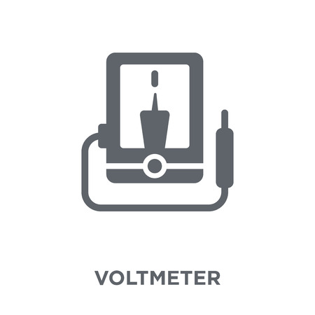 Voltmeter icon. Voltmeter design concept from  collection. Simple element vector illustration on white background.