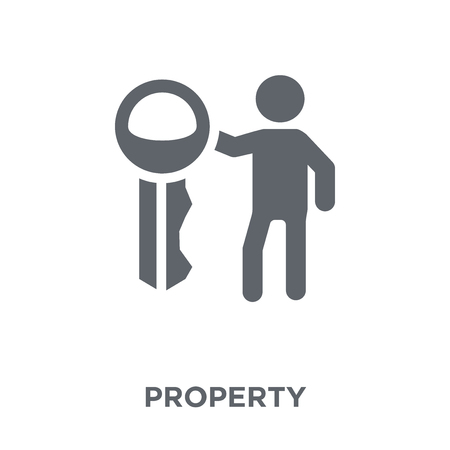 Property icon. Property design concept from  collection. Simple element vector illustration on white background.