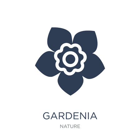 Gardenia icon. Trendy flat vector Gardenia icon on white background from nature collection, vector illustration can be use for web and mobile, eps10