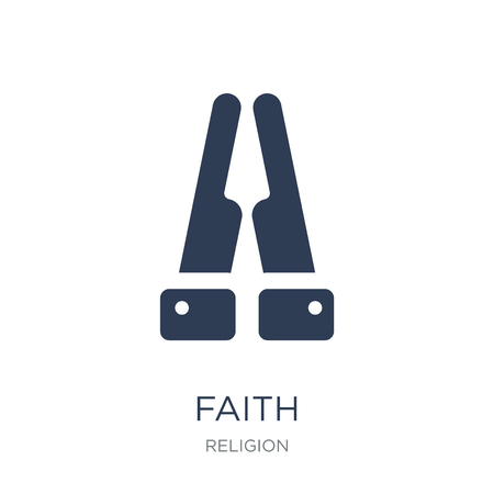 Faith icon. Trendy flat vector Faith icon on white background from Religion collection, vector illustration can be use for web and mobile, eps10