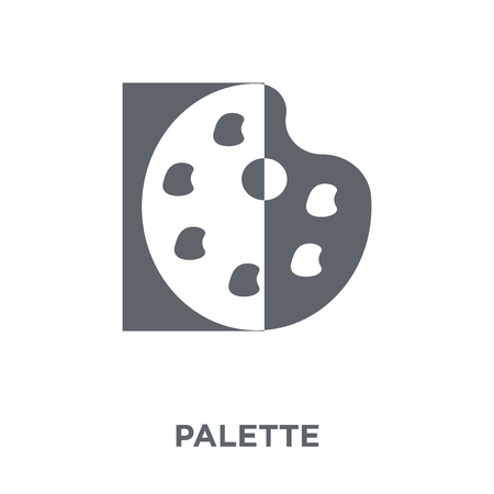 Palette icon. Palette design concept from Museum collection. Simple element vector illustration on white background.