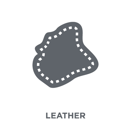 Leather icon. Leather design concept from  collection. Simple element vector illustration on white background. Ilustracja