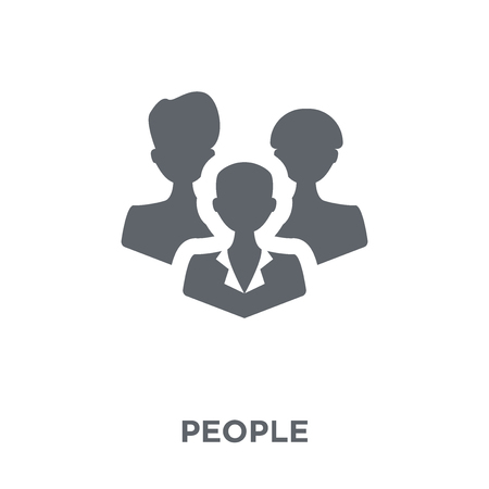 People icon. People design concept from  collection. Simple element vector illustration on white background. 向量圖像