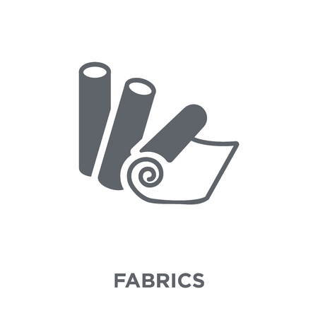 Fabrics icon. Fabrics design concept from Sew collection. Simple element vector illustration on white background.