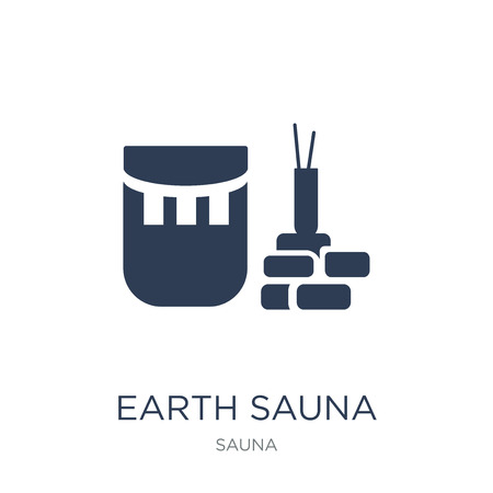 Earth sauna icon. Trendy flat vector Earth sauna icon on white background from sauna collection, vector illustration can be use for web and mobile, eps10