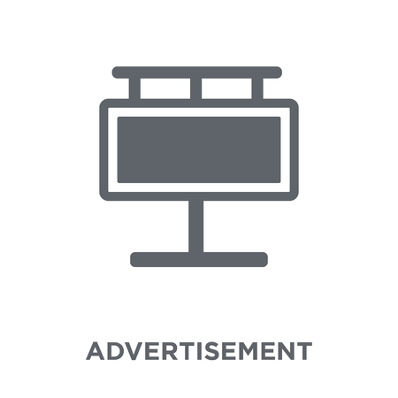 Advertisement icon. Advertisement design concept from  collection. Simple element vector illustration on white background. Illustration