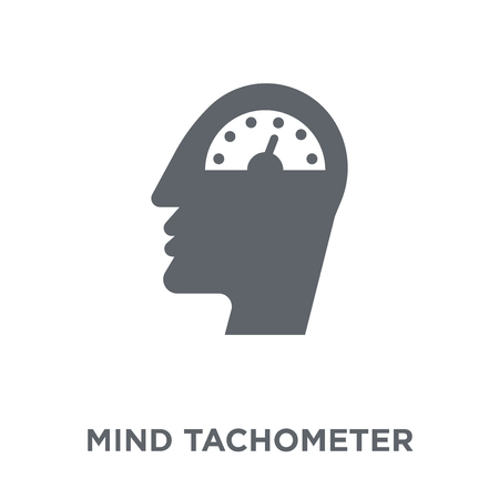 Mind tachometer icon. Mind tachometer design concept from Productivity collection. Simple element vector illustration on white background. Stock Illustratie
