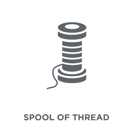 Spool of thread icon. Spool of thread design concept from  collection. Simple element vector illustration on white background. Çizim