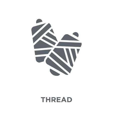 Thread icon. Thread design concept from  collection. Simple element vector illustration on white background. Standard-Bild - 112235510