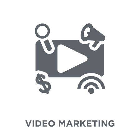 Video marketing icon. Video marketing design concept from Marketing collection. Simple element vector illustration on white background. Illustration