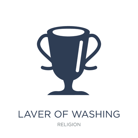 Laver of Washing icon. Trendy flat vector Laver of Washing icon on white background from Religion collection, vector illustration can be use for web and mobile, eps10