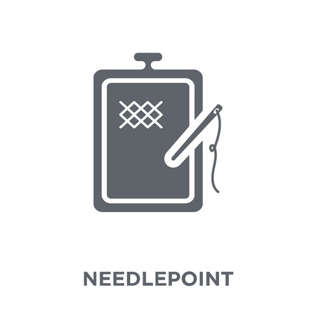 needlepoint icon. needlepoint design concept from Sew collection. Simple element vector illustration on white background. Ilustracja