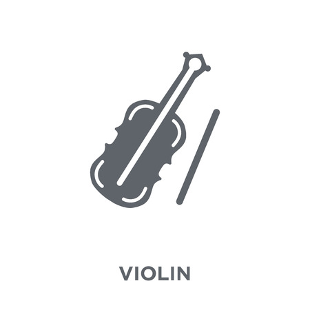 Violin icon. Violin design concept from  collection. Simple element vector illustration on white background.