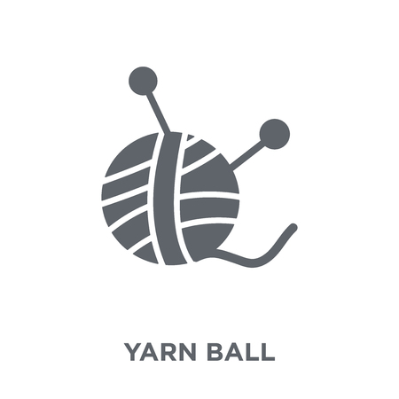 Yarn ball icon. Yarn ball design concept from  collection. Simple element vector illustration on white background. Фото со стока - 112235321