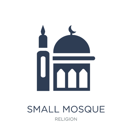 Small Mosque icon. Trendy flat vector Small Mosque icon on white background from Religion collection, vector illustration can be use for web and mobile, eps10