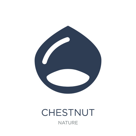 Chestnut icon. Trendy flat vector Chestnut icon on white background from nature collection, vector illustration can be use for web and mobile, eps10 Çizim