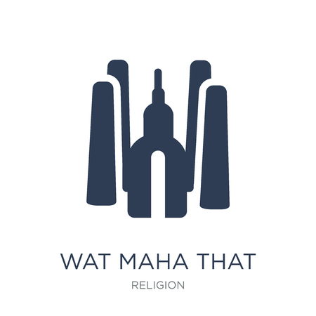 Wat maha that icon. Trendy flat vector Wat maha that icon on white background from Religion collection, vector illustration can be use for web and mobile, eps10