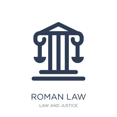 roman law icon. Trendy flat vector roman law icon on white background from law and justice collection, vector illustration can be use for web and mobile, eps10 Illustration