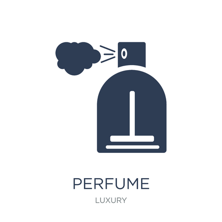Perfume icon. Trendy flat vector Perfume icon on white background from Luxury collection, vector illustration can be use for web and mobile, eps10 Ilustrace