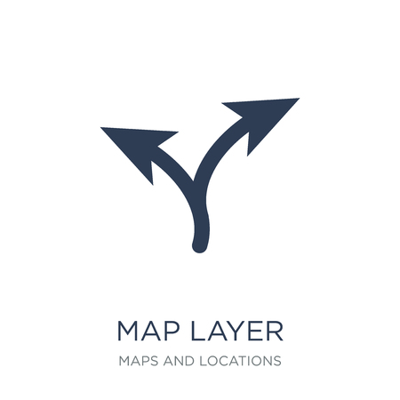 Map Layer icon. Trendy flat vector Map Layer icon on white background from Maps and Locations collection, vector illustration can be use for web and mobile, eps10 Illustration