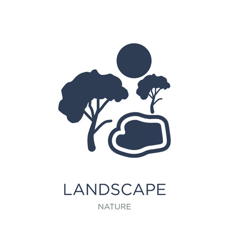 Landscape icon. Trendy flat vector Landscape icon on white background from nature collection, vector illustration can be use for web and mobile, eps10