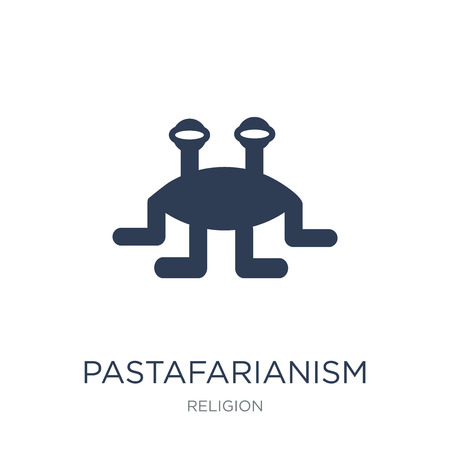 Pastafarianism icon. Trendy flat vector Pastafarianism icon on white background from Religion collection, vector illustration can be use for web and mobile, eps10  イラスト・ベクター素材