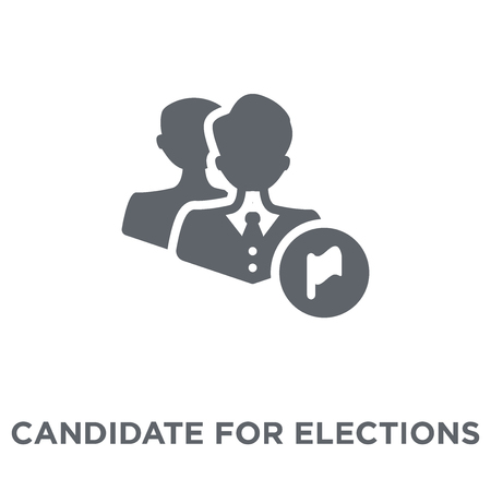 Candidate for elections icon. Candidate for elections design concept from Political collection. Simple element vector illustration on white background.