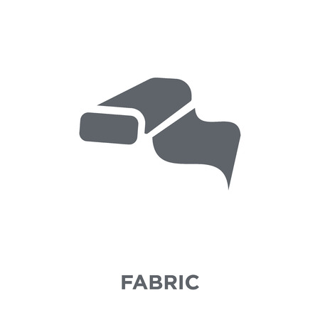 Fabric icon. Fabric design concept from  collection. Simple element vector illustration on white background. Çizim