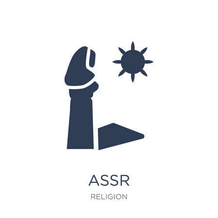 Assr icon. Trendy flat vector Assr icon on white background from Religion collection, vector illustration can be use for web and mobile, eps10 Иллюстрация