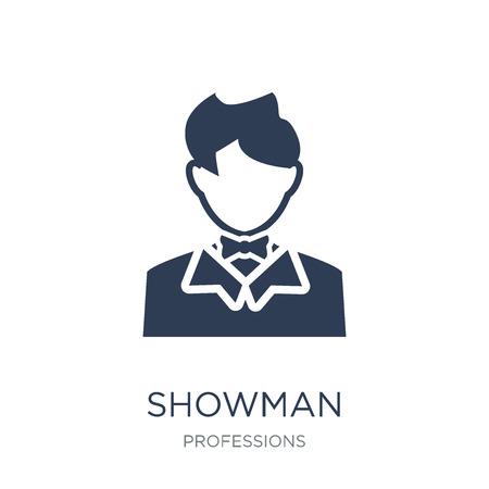 Icône de showman. Icône Showman vecteur plat sur fond blanc de la collection Professions, illustration vectorielle peut être utilisé pour le web et mobile, eps10