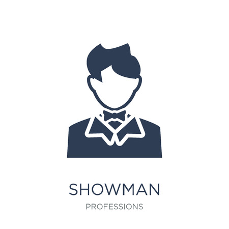 Showman icon. Trendy flat vector Showman icon on white background from Professions collection, vector illustration can be use for web and mobile, eps10 Foto de archivo - 111309353