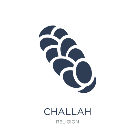 Challah icon. Trendy flat vector Challah icon on white background from Religion collection, vector illustration can be use for web and mobile, eps10 Stock Vector - 112235743