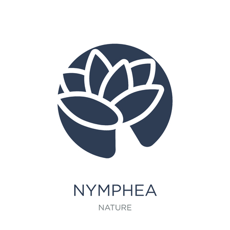 Nymphea icon. Trendy flat vector Nymphea icon on white background from nature collection, vector illustration can be use for web and mobile, eps10 Zdjęcie Seryjne - 112235746