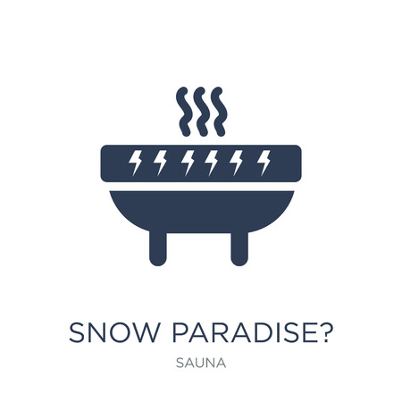 SNOW PARADISE? icon. Trendy flat vector SNOW PARADISE? icon on white background from sauna collection, vector illustration can be use for web and mobile, eps10