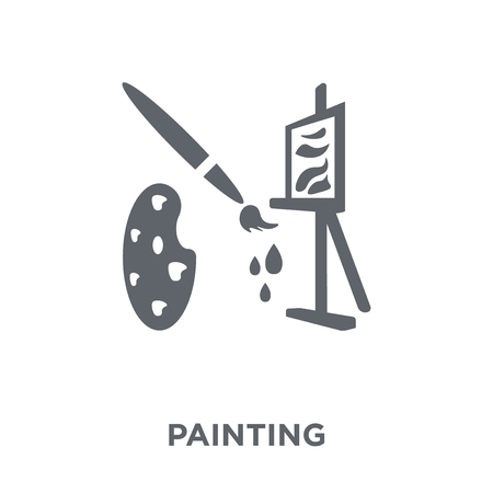 Painting icon. Painting design concept from  collection. Simple element vector illustration on white background.