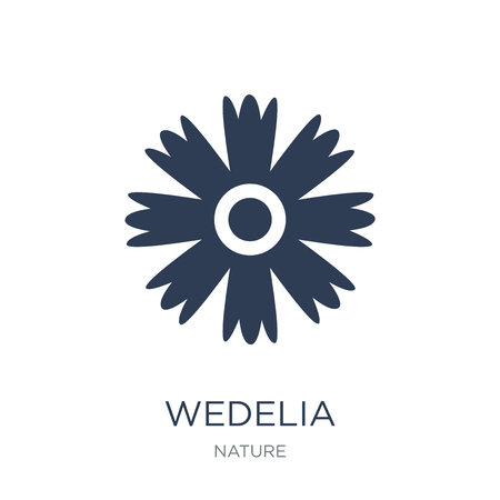 Wedelia icon. Trendy flat vector Wedelia icon on white background from nature collection, vector illustration can be use for web and mobile, eps10 스톡 콘텐츠 - 112235750