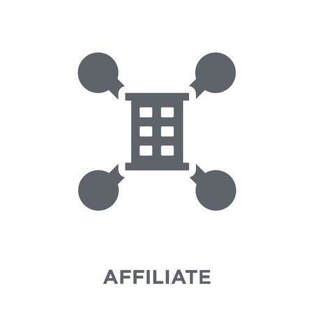 Affiliate icon. Affiliate design concept from Marketing collection. Simple element vector illustration on white background.
