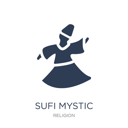Sufi Mystic icon. Trendy flat vector Sufi Mystic icon on white background from Religion collection, vector illustration can be use for web and mobile, eps10 Reklamní fotografie - 112235753