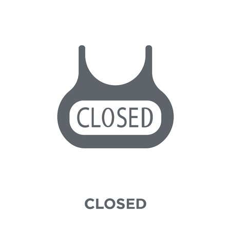 Closed sign icon. Closed sign design concept from  collection. Simple element vector illustration on white background.