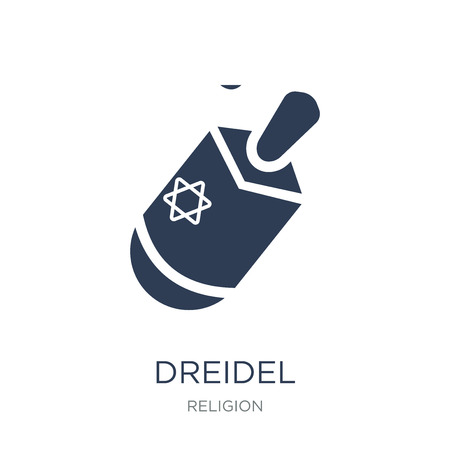 Dreidel icon. Trendy flat vector Dreidel icon on white background from Religion collection, vector illustration can be use for web and mobile, eps10