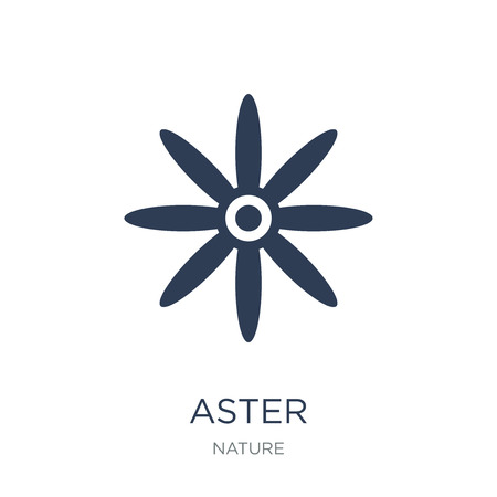 Aster icon. Trendy flat vector Aster icon on white background from nature collection, vector illustration can be use for web and mobile, eps10