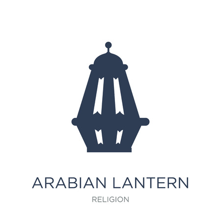 Arabian Lantern icon. Trendy flat vector Arabian Lantern icon on white background from Religion collection, vector illustration can be use for web and mobile, eps10