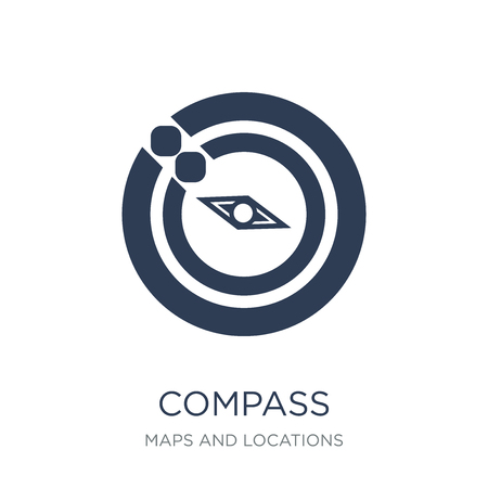 Compass icon. Trendy flat vector Compass icon on white background from Maps and Locations collection, vector illustration can be use for web and mobile, eps10 Ilustração