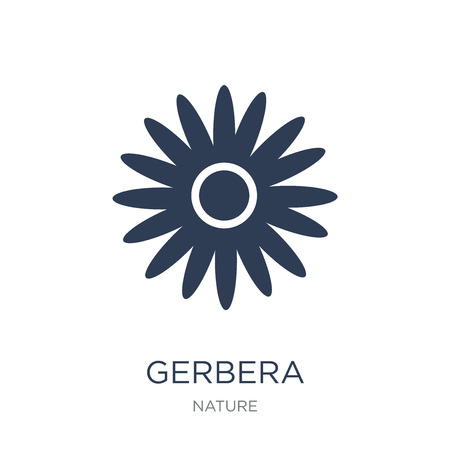 Gerbera icon. Trendy flat vector Gerbera icon on white background from nature collection, vector illustration can be use for web and mobile, eps10 向量圖像