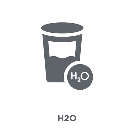 H2o icon. H2o design concept from  collection. Simple element vector illustration on white background.