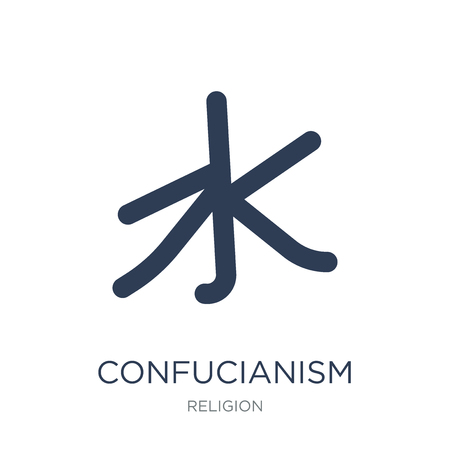 Confucianism icon. Trendy flat vector Confucianism icon on white background from Religion collection, vector illustration can be use for web and mobile, eps10