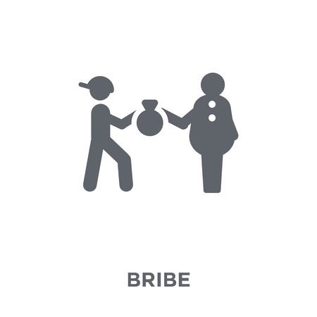 Bribe icon. Bribe design concept from Political collection. Simple element vector illustration on white background. Иллюстрация