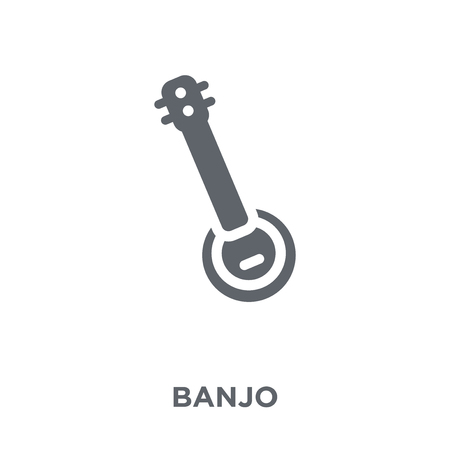Banjo icon. Banjo design concept from  collection. Simple element vector illustration on white background.