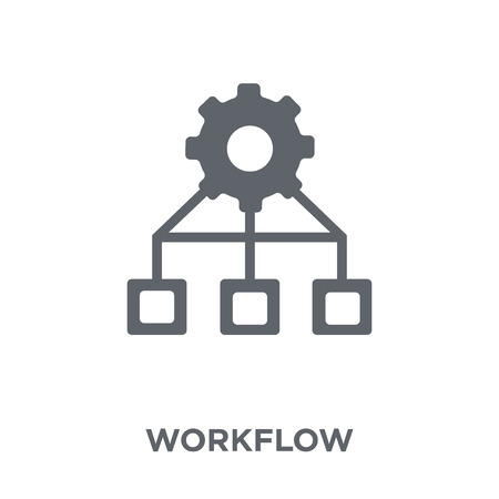 Workflow icon. Workflow design concept from  collection. Simple element vector illustration on white background. Illustration