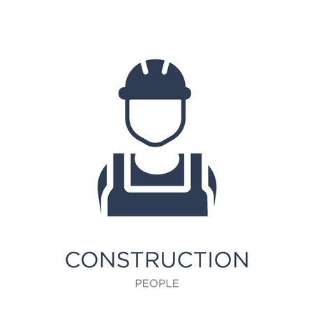 Construction worker icon. Trendy flat vector Construction worker icon on white background from People collection, vector illustration can be use for web and mobile, eps10